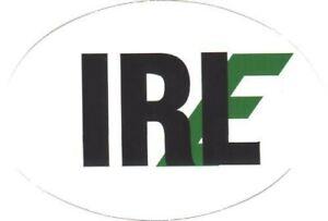 IRL Irish Decal Sticker Eire Ireland - 6 x 3 inches - Car