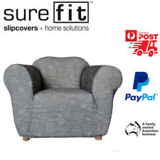 1 Seater Surefit Stretch Couch Lounge Sofa Cover | Slipcover | Signature Grey
