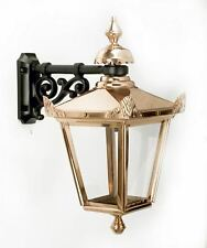 Top Fix Copper Victorian Style Lantern and Wall Bracket