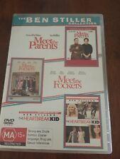 Ben Stiller-MEET THE PARENTS, MEET THE FOCKERS,THE HEARTBREAK KID.DVD R4 3 DISC