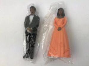 New Vintage Black African American Bridesmaid Groomsman Prom Date Cake Toppers