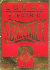 Lucas Electric Screenjet Label Sticker Ford Zephyr Zodiac Executive 2000E Ghia