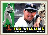 Ted Williams Boston Red Sox / Bob Lemke custom 1960 style / FREE SHIPPING