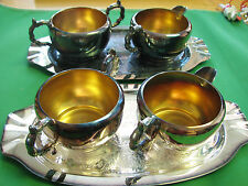 2x Viking Plate EP Copper Silverplate Plate , Cream & Sugar about new