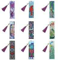 DIY Shaped Drill Diamond Painting Bookmarks Tassel Notebook Gift Marks C1X5