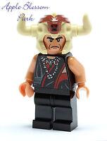 NEW Lego Indiana Jones Flesh Head MOLA RAM Minifig/Minifigure w/Horn Helmet 7199