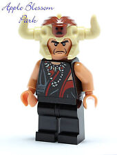NEW Lego Indiana Jones Flesh Head MOLA RAM Minifig/Minifigure w/Horn Helmet 7199