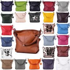 Tasche Handtasche Ital. Echt Leder Schultertasche Umhängetasche Ledertasche NEU