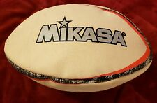 Mikasa Kick Off Rugby Ball White Black Red & Silver Rnb7 Size 5