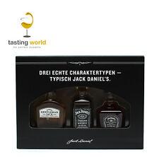 Geschenkset Jack Daniels Family Of Brands 3x5cl Miniaturen Single-Gentleman-No7