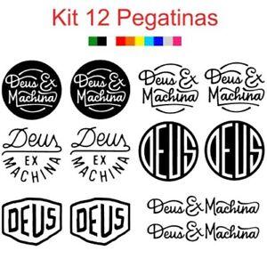 12x Pegatina DEUS EX MACHINA Vinilo Adhesivo Decal Sticker