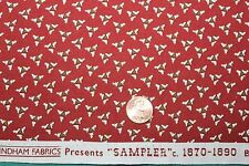 """""""SAMPLER"""" CIRCA 1870-1890 REPRODUCTION QUILT FABRIC BTY FOR WINDHAM 41298-2"""