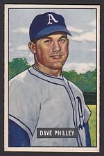 1951 Bowman #297 David Dave Philley Philadelphia Athletics High # baseball card