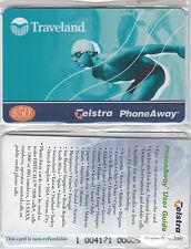Phonecard Australia $50 phoneaway TRAVELAND in original pack unused, scarce