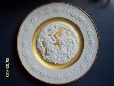 Franklin Fine Bisque Porcelain Christmas Plate Deck The Halls 1977 Bavaria