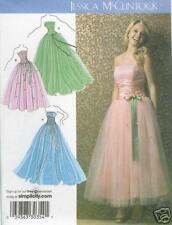 Jessica McClintock PATTERN Simplicity 3878 Ballerina Prom Formal dress 4-12 50s
