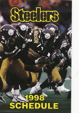 1998 PITTSBURGH STEELERS FOOTBALL POCKET SCHEDULE - PITTSBURGH TRIBUNE-REVIEW