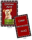 DOG DISHWASHER MAGNET (Yorkshire Terrier - Yorki) - Clean/Dirty *Ship FREE