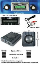 1967-1972 Chevy Truck Radio w/ Speakers Aux Cable Stereo 230