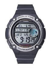 Casio AE3000W-1A Black Digital Sports Watch - 3 City Time - 100M 10 Year Battery