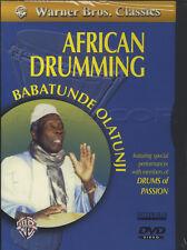 Tambor De Mano Percusión Africana aprende a tocar la matrícula DVD por nueve Olatunji