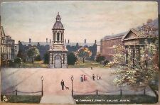 Irish Art Postcard TRINITY COLLEGE Campanile Dublin Oilette Raphael Tuck Ireland