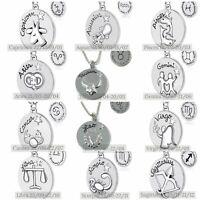 Reversibel Tierkreis Star Zeichen Halskette Romantisch Spaß Horoskop 12