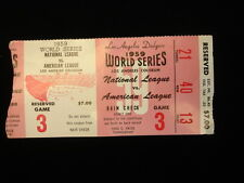 October 4, 1959 World Series Game 3 Ticket Stub - White Sox @ Dodgers
