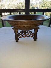 "Antique Roadshow Dale Tiffany Centerpiece Bowl Decorative Accent Resin/Metal 16"""