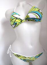 Adidas sehr schöner Tri  Bikini 2 PC Badeanzug weiß - türkis - limette 36 Neu
