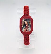 Pulseras De La virgen de Guadalupe Color Rojas (paque de dos piezas)