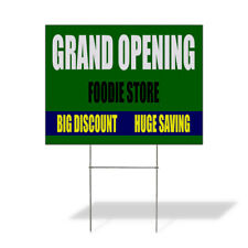 Weatherproof Yard Sign Grand Opening Grocery Store Big Discount Red Lawn Garden