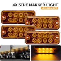 4 Stueck LED Seitenmarkierungsleuchten LKW Seitenleuchte Gelb 12 Volt