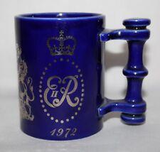Portmeirion Pottery - Queen Elizabeth II 1972 Silver Wedding Mug - vgc