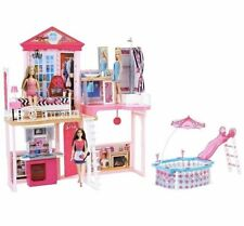 New SEALED Barbie House | 3 Genuine Dolls + Full Home Furniture Sets with Pool