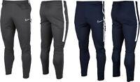 Mens Nike Dri-Fit Football Soccer Pants Navy Grey Bottoms Training Running Sport