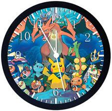 Pokemon Pikachu Black Frame Wall Clock E373