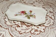 Vintage.Ceramic.Flowered. Rectangle.Pin Tray