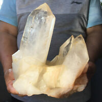 4436g Large Natural Clear White Quartz Crystal Cluster Rough Healing Specimen