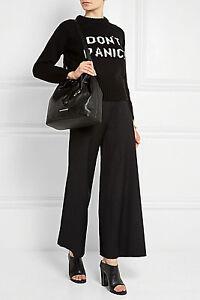 NWT Designer MICHAEL KORS `Jules' LEATHER Bucket Bag - BLACK last one