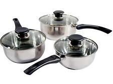 6pc stainless steel cookware kitchen set saucepan sauce pans cooking pot pan LG