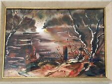 Original ELECTRA MALONE 1965 SIGNED Watercolor Listed Texas White House Painter
