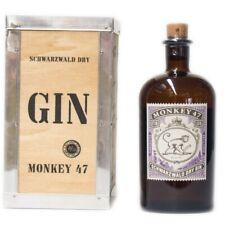 Monkey 47 Schwarzwald Gin + Holzkiste 500ml 47% Vol.
