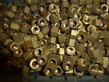 """Pack of 10 Brass Manifold Nuts Vintage UNF Nuts New old stock 3/8"""""""""""