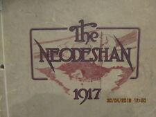 1917 Yearbook Neodesha High School KS Kansas Great Photos & Ads & No Writing