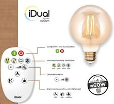 iDual LED Leuchtmittel Filament E27 G95 amber dimmbar 806lm 9W inkl. FB Vintage