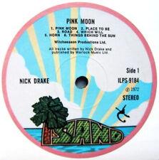 "NICK DRAKE PINK MOON ILPS 9184 1972 REPLICA LABEL STICKER 100MM ROUND 4"" QUALITY"
