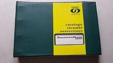 Innocenti Spider 950 1961 catalogo ricambi originale auto parts catalogue