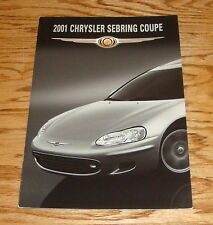 Original 2001 Chrysler Sebring Coupe Foldout Sales Brochure 01
