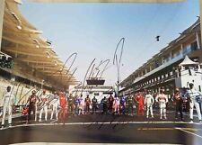 F1 2020 signed big poster Hamilton Verstappen Leclerc Raikkonen 70x50 Formula 1